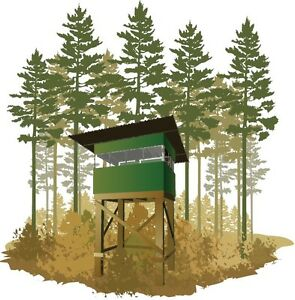 Deer stand box blind plans portable build your own under for How to build a box stand