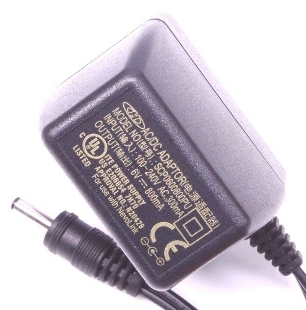 H SCP0600800PU AC DC Power Supply Adapter Charger Output 6V 800mA