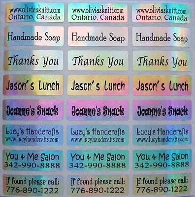 90 LASER Custom Waterproof Name Stickers-Daycare, School(Buy 5 get 1 FREE)