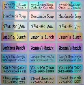 90 LASER Personalized Waterproof Name Stickers-Daycare, School(Buy 5 get 1 FREE)