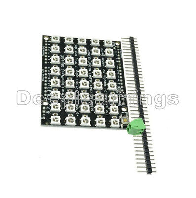 8x5 40 Led Matrix Ws2812 Led 5050 Rgb Full-color Driver Board For Arduino New