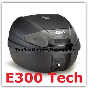 Givi-E300-NT-Tech-Motorcycle-Top-Box-30-litres-PLUS-Free-Universal-Fitting-Kit