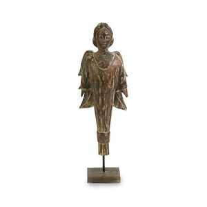 Tuscan Wooden Angel Statue Home Decor Figurine Christmas 21 034 H Gothic New Ebay