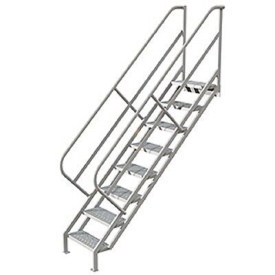 New 8 Step Industrial Access Stairway Ladder Perforated