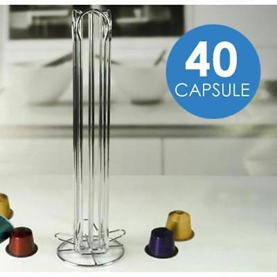 Stand dispenser portacapsule porta capsule 40 posti acciaio inox 726106 - Rotex