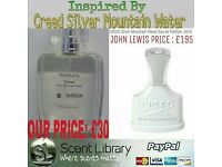 50ml PERFUME SPRAY CREED SILVER MOUNTAIN WATER DUPE NOW £25