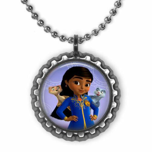 Disney Junior MIRA Royal Detective 3D Bottle Cap Necklace #2 | Gift for Kids