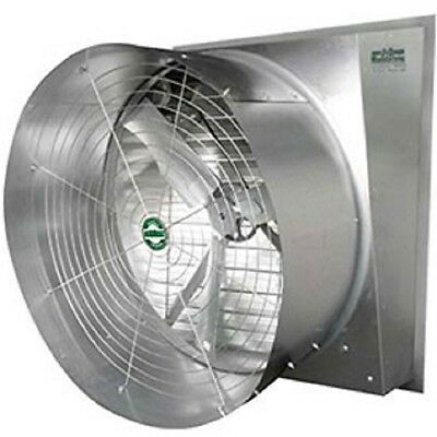New 50 Typhoon Exhaust Fan-slant Wall-belt Drive With Cone 23200 Cfm