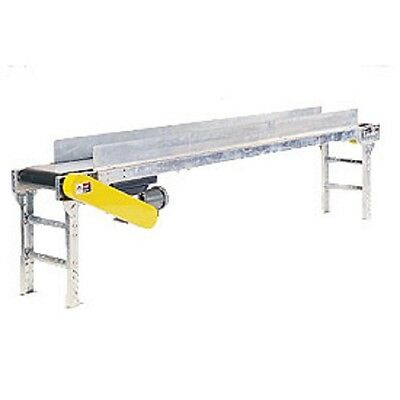 New Powered 24w X 10l Belt Conveyor With 6h Side Rails