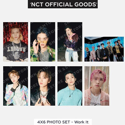 NCT 4X6 PHOTOCARD SET - Work It SMTOWN OFFICIAL GOODS SEALED KPOP POST CARD