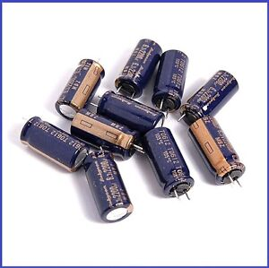12PCS-2200UF-6-3V-RUBYCON-RADIAL-ELECTROLYTIC-CAPACITORS-10X20MM-MBZ