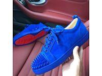 Blue loubs low top Size 41/42 size 8.5 uk size