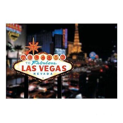 Las Vegas Backdrop Banner Decor Photo Op Poker Night Casino Birthday Party Event - Las Vegas Decorations