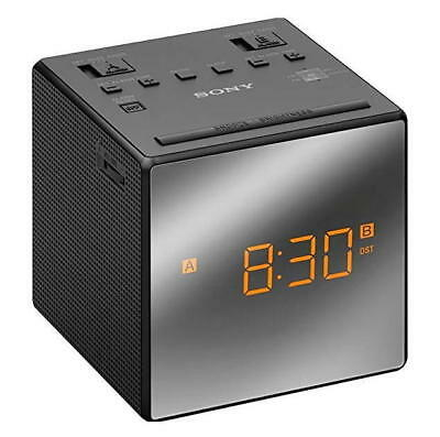 Sony ICF-C1T AM/FM Alarm Clock Radio - Black With Mirrored Face and Amber LED