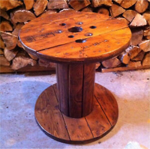 Table bobine de bois/ touret