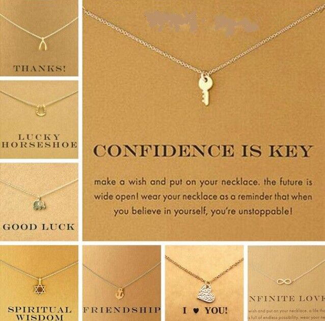 Jewellery - Gold Coloured Necklace Chain Pendant Gift Card Jewellery Hand Made 33 Designs