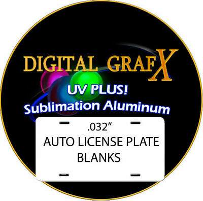 Aluminum Dye Sublimation Auto License Plate Blanks -100pcs .032thick Free Ship