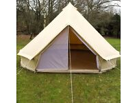 4M Bell Tent (ZIG) Canvas Zipped in Ground Sheet