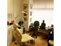 Room free to rent inside a tattoo studio for beauty or health treatments.