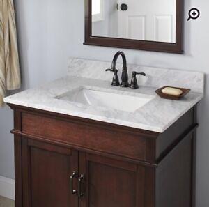 """25x19"""" Marble Bathroom Vanity top"""