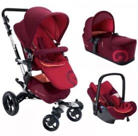 Concord neo lava red pushchair travel system