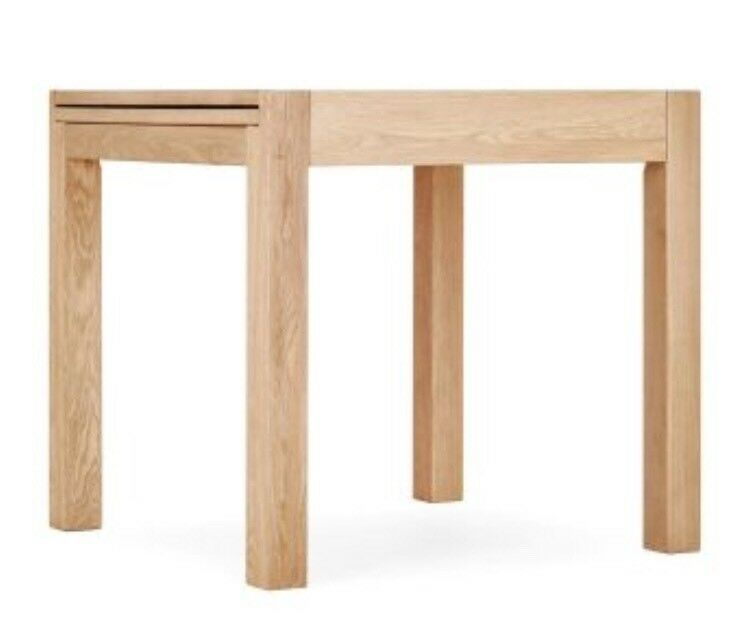 Brand New Next Blonde Oak Solid Wood Square To Rectangle Dining Table In Waterbeach Cambridgeshire Gumtree