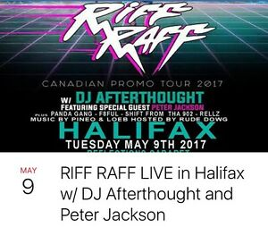 Discounted Riff Raff live ticket!