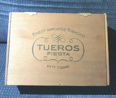 Tueros Fiesta Finest Imported Tobacco Cigar Box Vintage