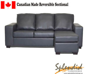 Brand New Canadian Made Sectional W Reversible Chaise