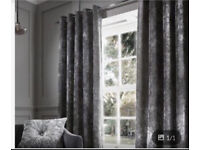 "66-90"" CRUSHED VELVET CURTAINS EYELET"