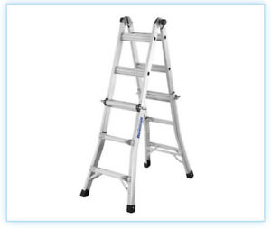 Master Craft Expandable Aluminum Step Ladder