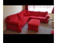 Sofa corner red
