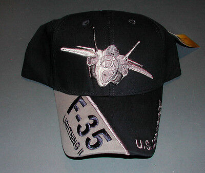 LOCKHEED MARTIN F-35 LIGHTNING USAF AIR FORCE Fighter Squadron Hat Patch Image