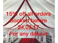 MARQUEE/GAZEBO/TENT HIRE LONDON - 15% OFF