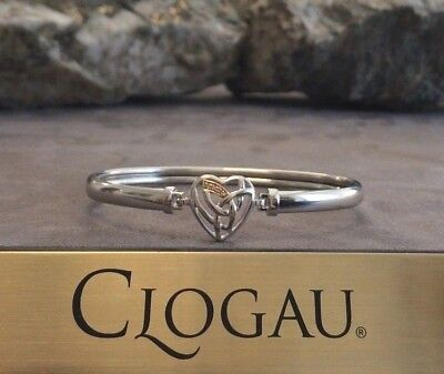 Official Welsh Clogau Gold Silver & Rose Gold Eternal Love Bangle £140 off!