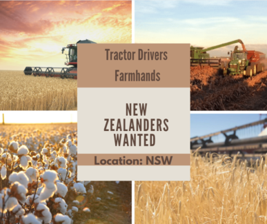 New Zealander Farm hands - wanted for seeding  in New South Wales Wagga Wagga Wagga Wagga City Preview