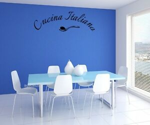 Cucina italiana language wall quote vinyl decor sticker for Stencil cucina
