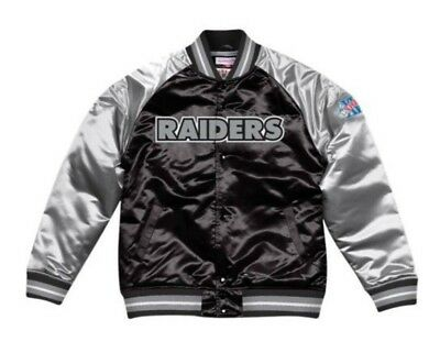 Authentic Oakland Raiders Mitchell & Ness NFL Tough Seasons Satin Jacket (Oakland Raiders Jacket)