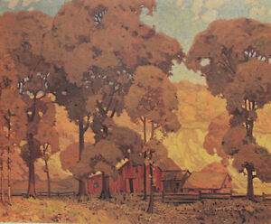 "A.J. Casson ""Autumn Afternoon"" Lithograph - Appraised at $750"