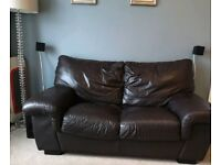 FREE brown leather two seater sofa