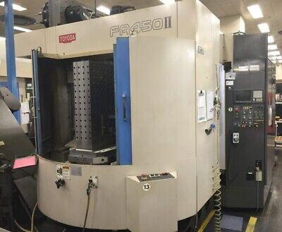 Used Toyoda Fa-450 Ii Hmc Cnc Horizontal Machining Center Mill Fanuc 200 Tools