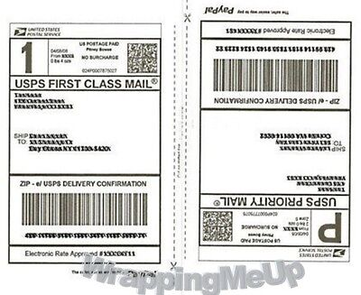 50 -shipping Labels 25 Sheets 2 Labels Per 8.5x11 Page Premium Shipping Labels