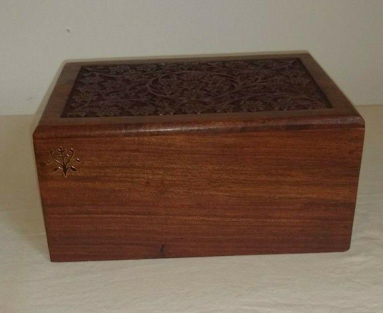 Wooden Cremation Urn For Pet Ashes Memorial Keepsake Box - N