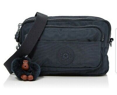 NEW Kipling Multiple True Navy convertible waist bum shoulder bag Rrp£54