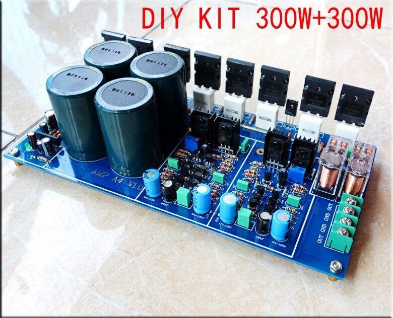DIY kit HIFI Fully Symmetrical Dual Parallel Discrete Power Amplifier Board 600w