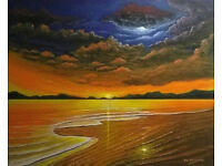 landscape\seascape paintings done to order on canvas from photos