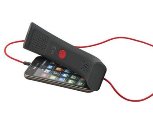 Black-Red-Handset-Soft-Feel-Mobile-Phone-Computer-iPhone-iPad-Laptop-Voip-Skype