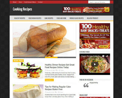 Cooking Recipe Website Business For Sale Clickbank Adsense 2 Months Free Hosting