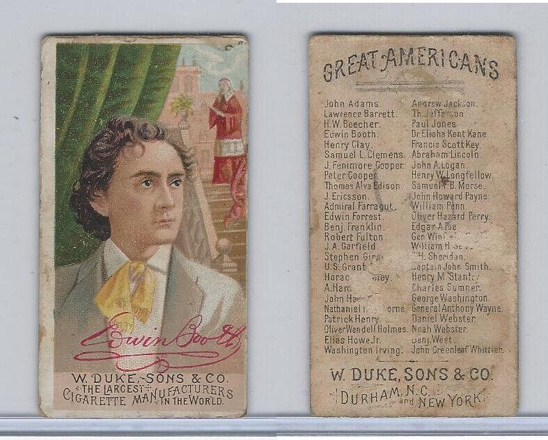 N76 Duke, Great Americans, 1888, Edwin Booth