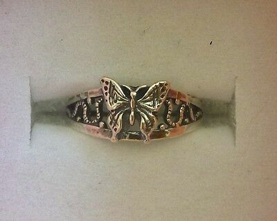 Butterfly toe ring genuine .925 sterling silver